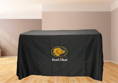 Golden Stitches Embroidery - Black Table Cover