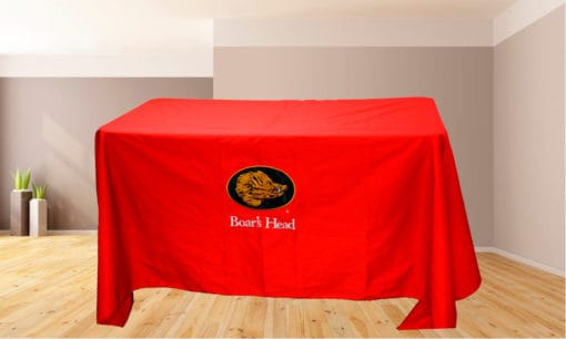 Golden Stitches Embroidery - Red Table Cover